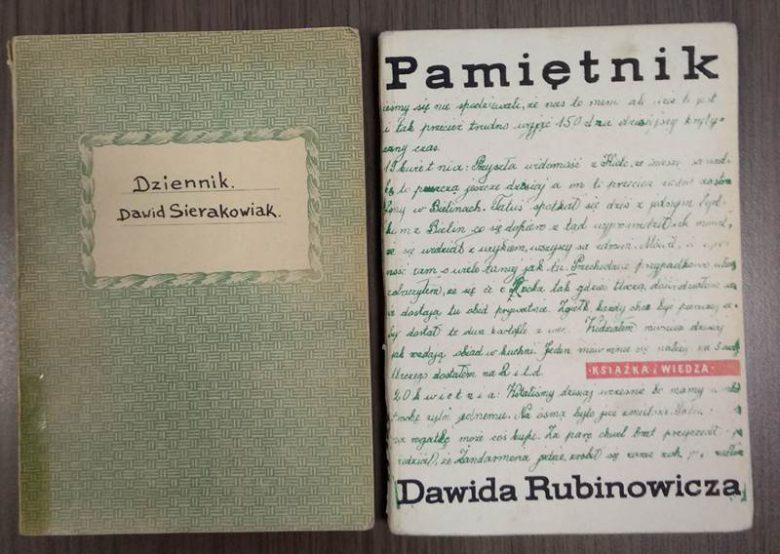 """Wystawa """"Pamiętniki dzieci z czasów wojny – Dawid Rubinowicz, Dawid Sierakowiak."""""""
