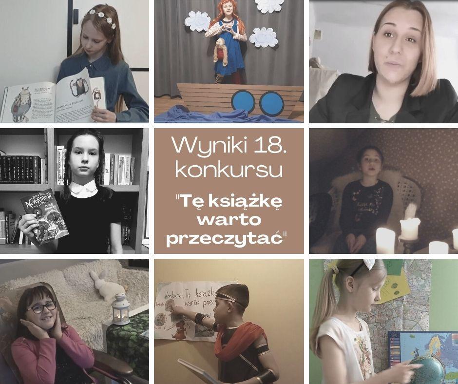"""Finał 18. powiatowego konkursu czytelniczego """"Tę książkę warto przeczytać"""""""