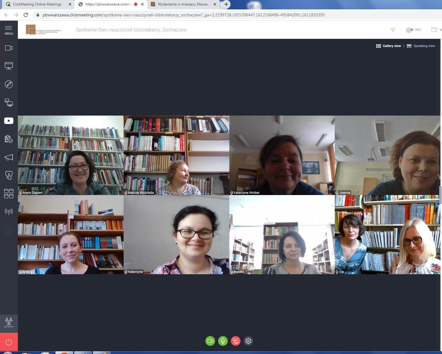 Wirtualne spotkanie nauczycieli bibliotekarzy