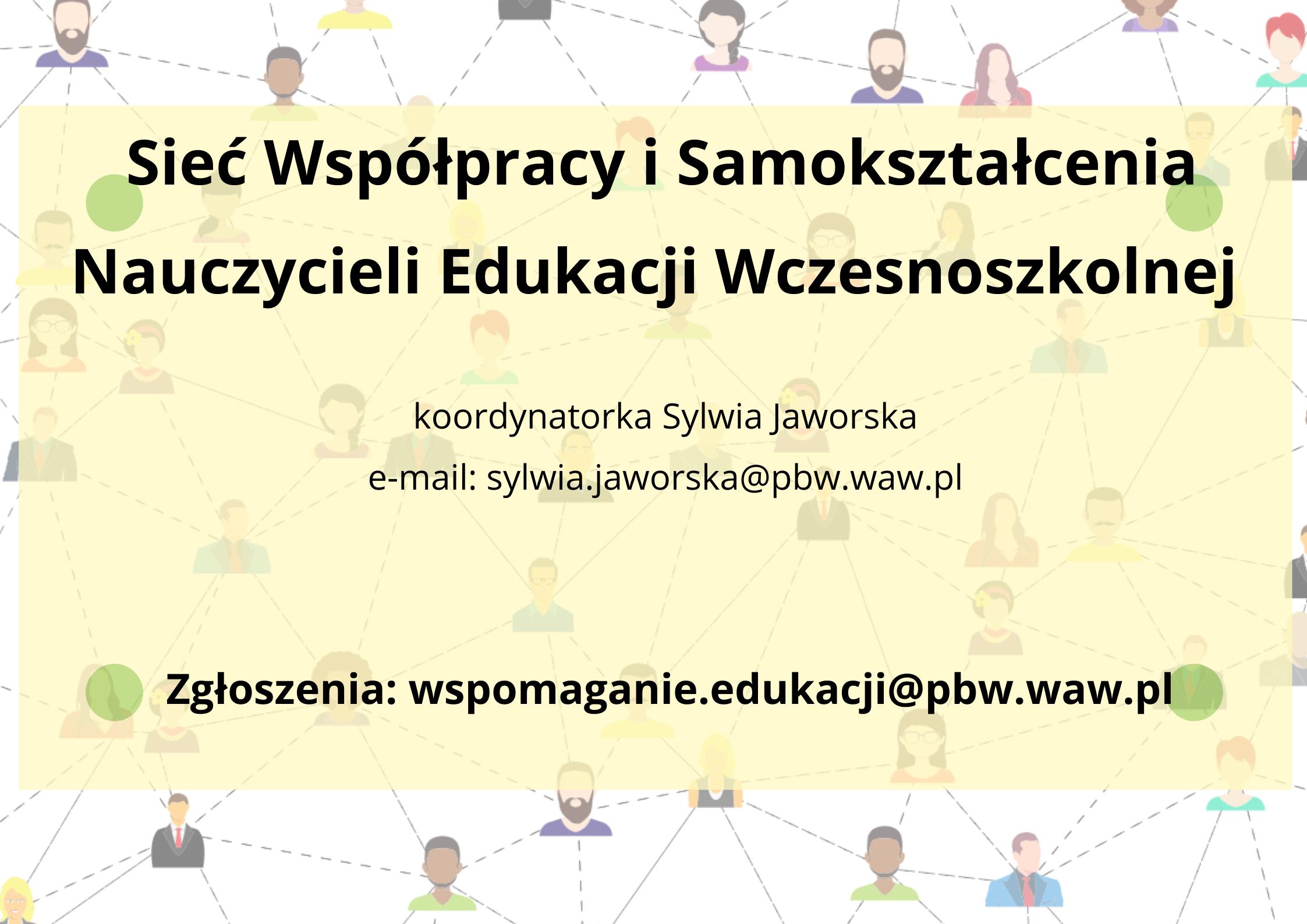 Sieć współpracy i sakokształcenia nauczycieli edukacji wczesnoszkolnej
