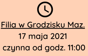 Zmiana godzin pracy w Grodzisku Mazowieckim