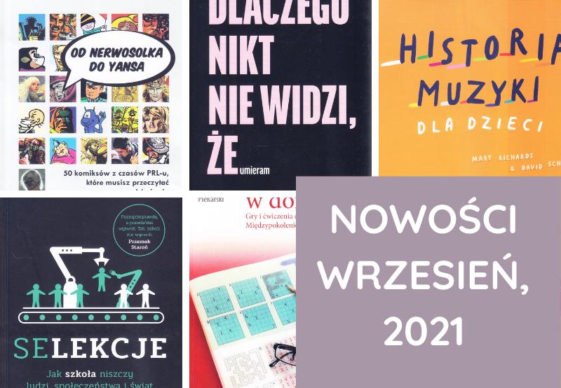 Nowości, Książki – wrzesień, 2021
